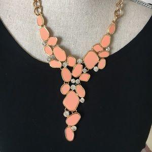 New peach necklace set